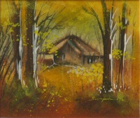 A house surrounded with trees by Swapan Das
