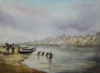 Banaras Ghat by Rajib Bag
