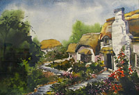 English Cottages by Pousali Das