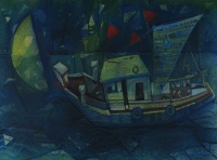 Boats At Night II by Aparup Mukherjee